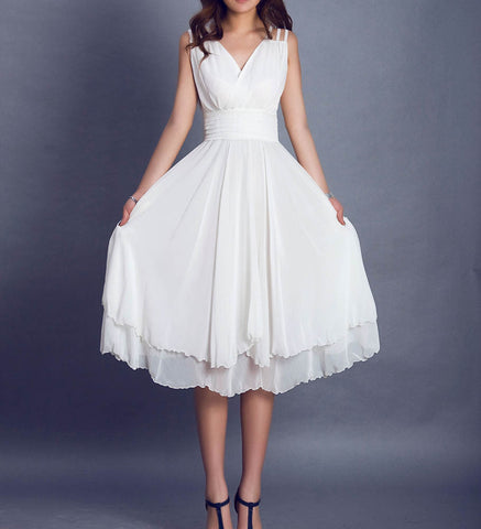 White dress wedding dress prom dress maxi dress (099)