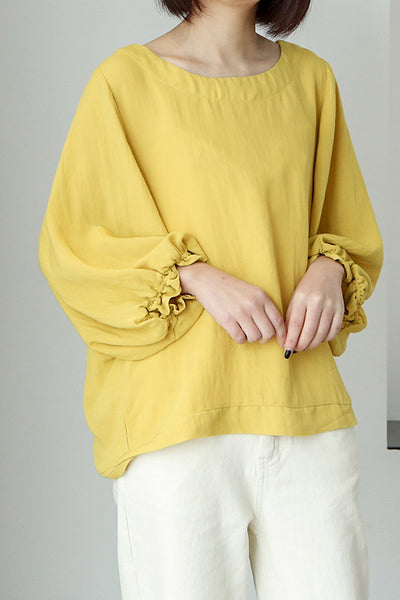lattern sleeve women's blouse shirt CL001