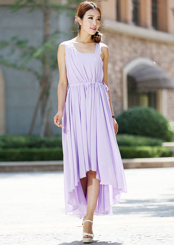 Maxi dress, purple dress 992