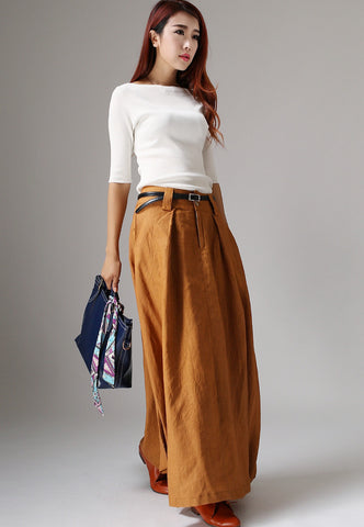 Maxi Skirts-Maxi Skirt with Pockets-Bohemian Skirt-Long Skirt-Boho Skirt-Gypsy Skirt-Hippie Skirt-Maxi Skirts Long-Maxi Skirt-Boho Chic-1042