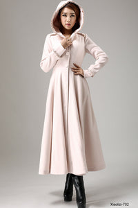 pink wool winter coat
