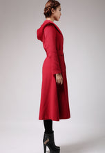 Load image into Gallery viewer, Charming Red Winter Wool Coat Long Jacket 0714#