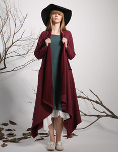 Linen dress jacket red jacket spring jacket loose tops 1135
