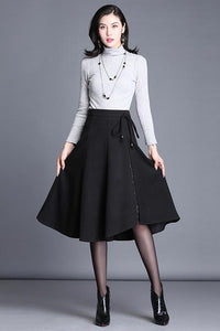 Versatile  irregular  a-line expansion skirt S018