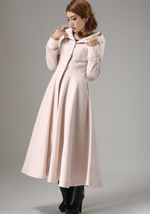 Long fit and flare swing coat for women 0727#