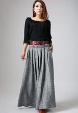 Load image into Gallery viewer, Xiaolizi swing maxi skirt in grey  0911#