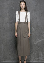Load image into Gallery viewer, Long Suspender Pant Supender Dress Pant(1328)