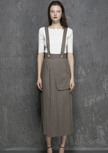Long Suspender Pant Supender Dress Pant(1328)