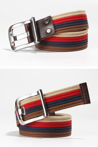 Canvas fashion striped belt for men and women YD014