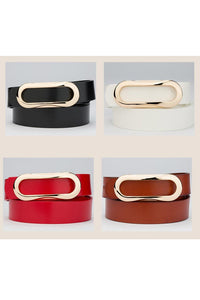 Summer fashion versatile formal smooth buckle wear casual cowhide belt YD005