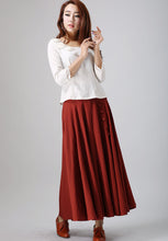 Load image into Gallery viewer, 50s swing circle skirt in Red 0781#