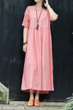 Load image into Gallery viewer, crew set head vintage linen long dress with loose waist CYM351