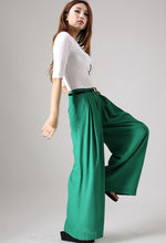 Load image into Gallery viewer, Wide Leg Palazzo pants in green 0840#