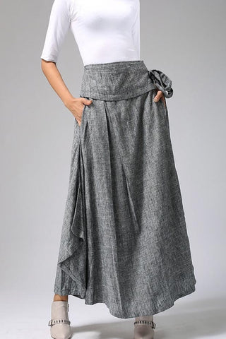 Long Wrap Maxi Skirt  0689#