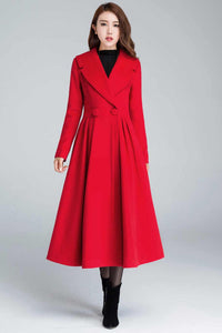 Wool Princess maxi coat 1640#