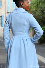 Load image into Gallery viewer, Wool Princess maxi coat in Baby blue 2407#