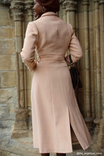Load image into Gallery viewer, Single breasted wool maxi coat with self tie belt waist 2421#