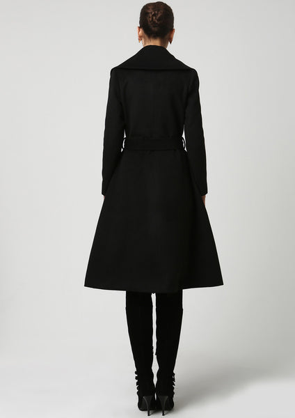 Black wool coat (1103)
