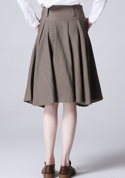 Mini linen dress women skirt (1193)