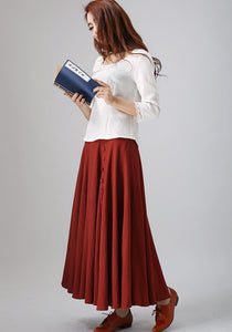 50s swing circle skirt in Red 0781#