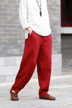 Load image into Gallery viewer, red pants for women