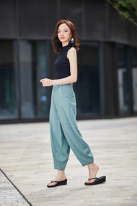 Casual linen pants for women 2191#