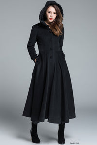 Black coat winter