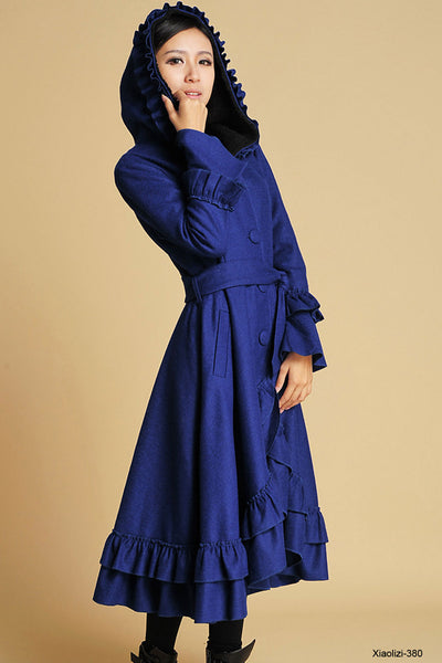 royal blue wool coat