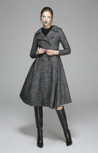 Load image into Gallery viewer, Womens Grey Wool Coat Wool Jacket Winter Coat 1373#