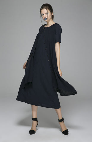 Cute Summer Dresses-Cute Dresses-Womens Casual Summer Dresses-Casual Dresses-Linen Dress-1402