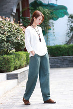 Load image into Gallery viewer, green fashional casual pants