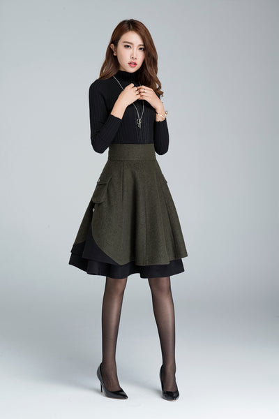Women's short skirt for winter, designer skirt 1627#