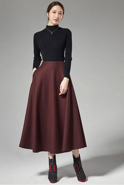 pleated elegant women a-line skirt J108