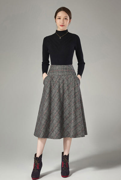 Side of the insert pocket a-line skirt J110
