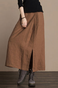 Wide waist pressure plait women  autumn  skirt j084-7