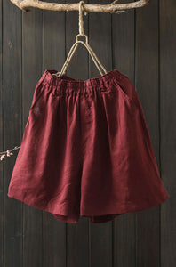 red handmade pants