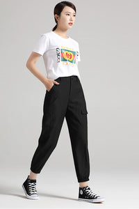 black cusual pants