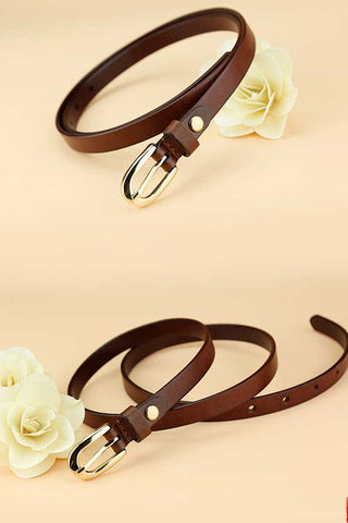 Simply leather belt for women BE001
