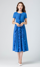Load image into Gallery viewer, blue dress
