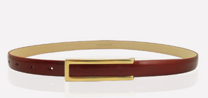 Smooth buckle leather belt patent leather waistband for women YD013