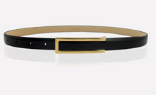 Load image into Gallery viewer, Smooth buckle leather belt patent leather waistband for women YD013