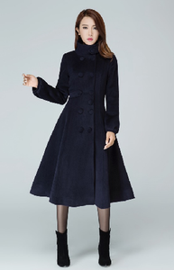 dark blue coat