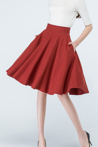 50s skirt fit and flare skater skirt  1689#