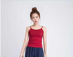 red camisole top
