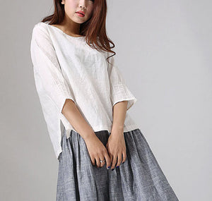 linen top for women