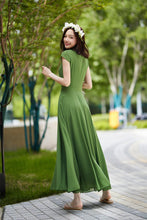 Load image into Gallery viewer, green chiffon dress, elegant prom dress 2190