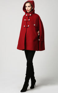 wool cape coat