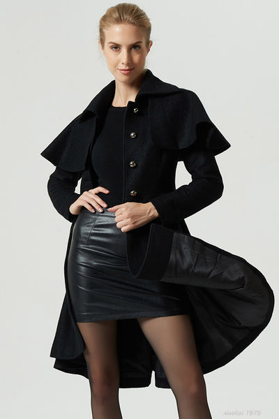 black cape coat