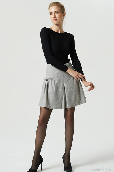 short wool skirt