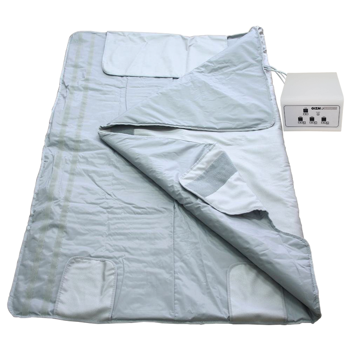 Gizmo Supply Digital Far-Infrared (FIR) Heat Sauna Blanket with 3 Zone Controller